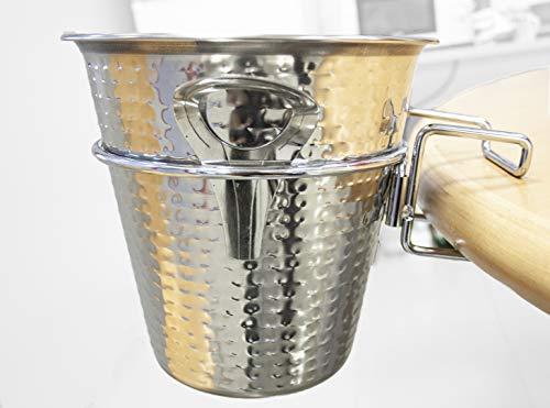 Cubitera con soporte de mesa para enfriar botellas de vino o de champagne, champanera. (22cm con soporte de mesa)