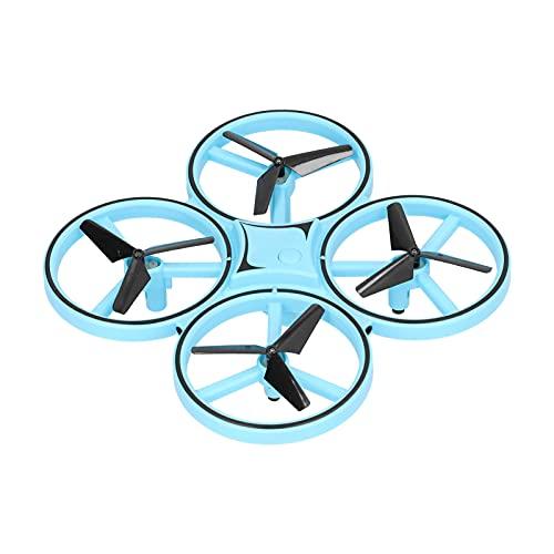 01 Mini Drone, Quadricottero Intelligente Drone RC con Doppio Telecomando Orologio Protezione da Sovraccarico/Funzione di Memoria Barometro per Oltre 14 Anni(Blu, Tipo Torre Pendente Pisa)