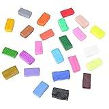 Arcilla de juguete interesante, polímero de arcilla de modelado colorido, respetuoso con el medio ambiente para hacer juguetes Entrenamiento de habilidades para niños(twenty four)