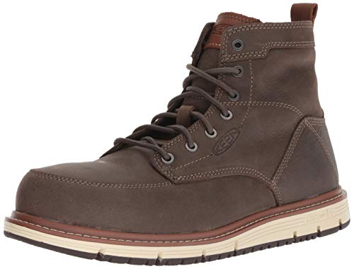 "KEEN Utility Men's SAN Jose 6"" at Industrial Boot, Falcon/Carmel café, 11.5 D US Work Grey, 11.5D"
