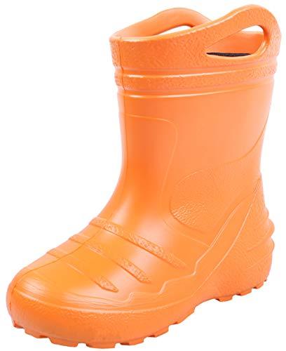 sarcia Orangefarbene Kinder-Gummistiefel, Gießkanne 34 EU