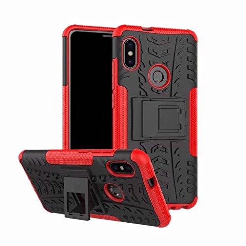 FaLiAng XiaoMi RedMi Note 5 (6,0inch) Funda, 2in1 Armadura Combinación A Prueba de Choques Heavy Duty Escudo Cáscara Dura para XiaoMi RedMi Note 5 (6,0inch) (Rojo)