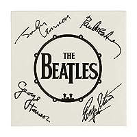 The Beatles 冷蔵庫用マグネット Signed Drum Logo 新しい 公式 76Mm X 76Mm