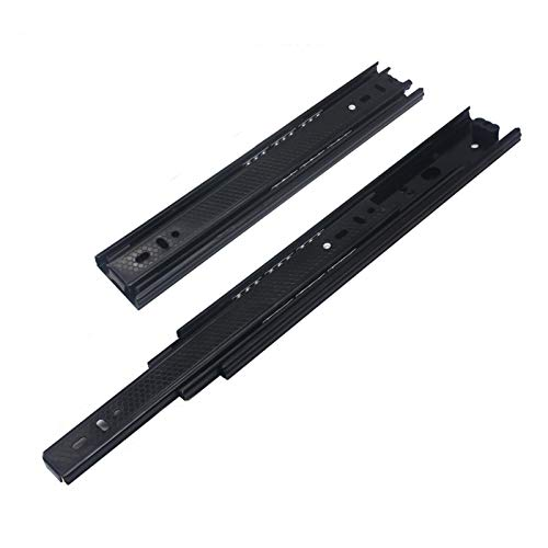 Drawer Slide Rail Ball Bearing Slide Rail 2pcs Smooth Furniture Low Noise Drawer Slide Cabinet Soft Close Ball Bearing Hardware 3 Folds Extension Thickened Guide Rail (Length : 12in)