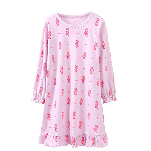 Image of Girls' and Toddlers Pretty Mermaid Long Sleeve Nightgown - See More Colors