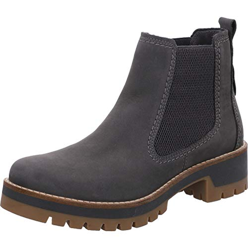 camel active Damen Diamond 72 Chelsea Boots, Grau (Steel 1), 39 EU