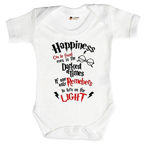 Felicidad se puede encontrar incluso en los tiempos más oscuros de Body de bebé Potter Talla:3-6...