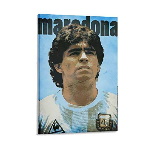 Ghychk Sports Poster RIP Diego Maradona famoso giocatore di calcio argentino decorazione da parete dipinto divano sfondo parete per soggiorno camera da letto pronto da appendere 50 x 75 cm
