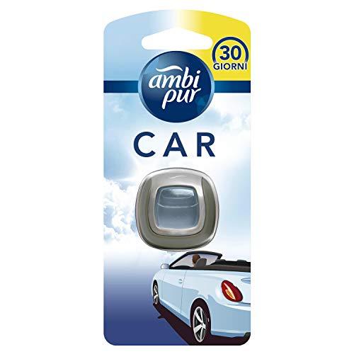 AMBI PUR Aire Fresco Ambientador De Clip Para Coche 2 Ml, Para Eliminar Olores En El Coche, color Multi6x3x16 cm, 100 ml