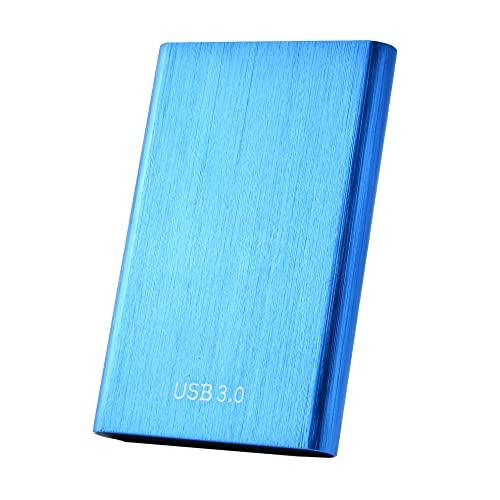 Disco duro externo portátil de 1 TB y 2 TB Ultra Slim Hard Drive portátil HDD tipo C Hard Drive for Mac,PC(1TB Blue)
