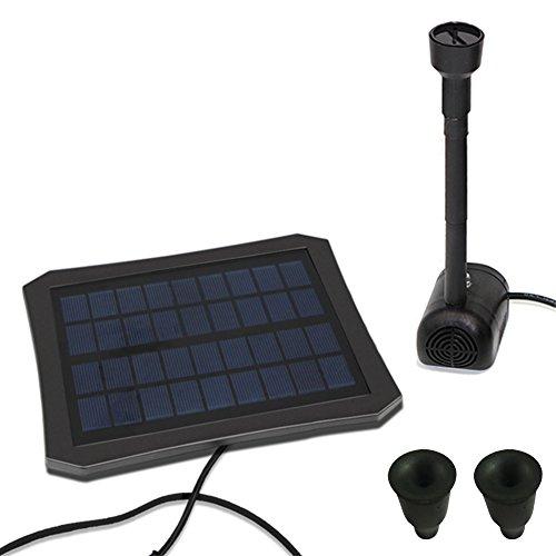 Waroomss Fontaine d'énergie solaire, kit solaire extérieur coloré de pompe de fontaine d'eau de LED pour le bain d'oiseau, petit étang, jardin et pelouse.