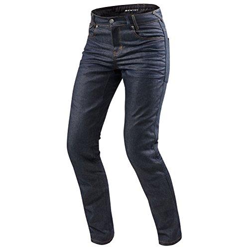 REV'IT! Motorrad Jeans Motorradhose Motorradjeans Lombard 2 RF Jeanshose dunkelblau 32/36, Herren, Chopper/Cruiser, Ganzjährig, Textil