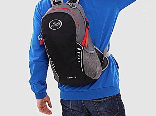 Extérieur élégant portable sac à dos sac à dos sac à dos de vélo , black