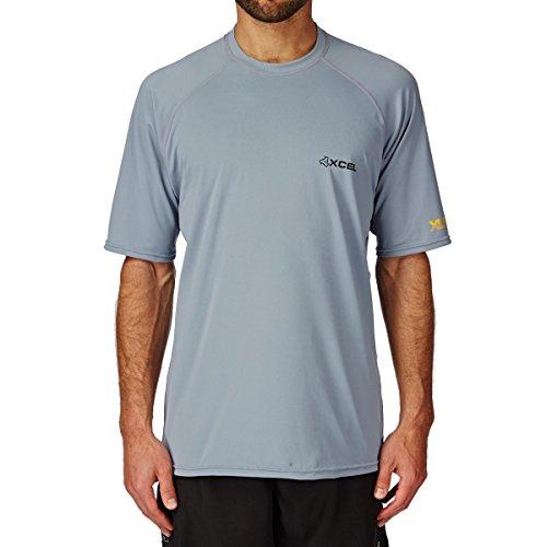 XCEL XLR8R O2 S/S Ventx Top UV-Schutz Shirt S/S Kurzarm Grau 2015 UPF 30+ (L)