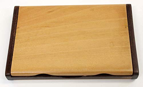【名入れ代無料】天然木ツゲ 名刺カードケース