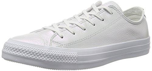 Converse Women's Low-Top Sneakers, White White 100, 10 Narrow