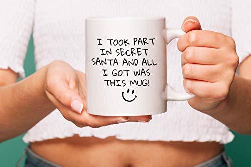 Funny secret santa novelty mug