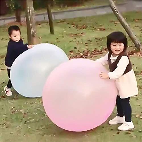 hj Globos de Agua Bola de Burbuja de Agua Transparente TPR, Bubble Ball para Niños Jelly Balloon Ball Bola de Burbuja Inflable Llena de Agua Interactiva Water Bubble Ball, 2PCS