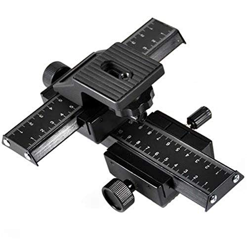 Cowboystudio Macro Focusing Rail Set with 4 Way, Fine Control and Camera Focusing Rail for Macro Photography