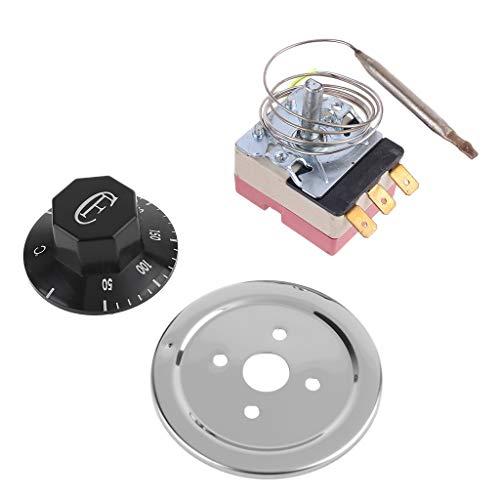 Xiaoyao24 Termostato AC 250 V 16 A 50 hasta 300 grados Celsius Termostato NO NC para horno eléctrico