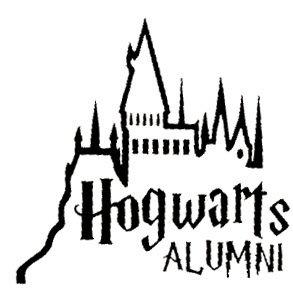 Legacy Innovations Hogwarts Alumni Black Decal Vinyl Sticker|Cars Trucks Vans Walls Laptop| Black |5.5 x 5.5 in|LLI683