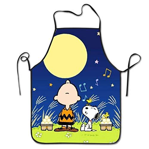 GERERIC Charlie Brown De S-Noopy Delantales De Jardinería Ajustable Delantal De Pintura Creativa Delantales De Barbacoa Artística Chefs Delantal De Cocina para Mujeres Hombres,Regalo,52X72Cm
