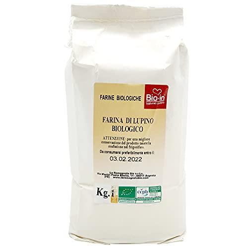 Oltresole - Farina Italiana di Lupino Biologica 1 Kg - farina italiana di legumi bio priva di glutine, fonte di proteine ideale per diete vegane