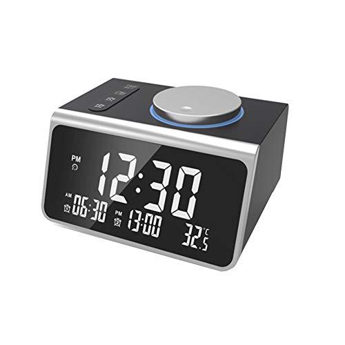Rysmliuhan Shop funkwecker lichtwecker Wake-up Light intelligenter Wecker Digitaluhren Nacht Bad Uhr Projektionswecker Licht Wecker Schlafzimmer Uhr