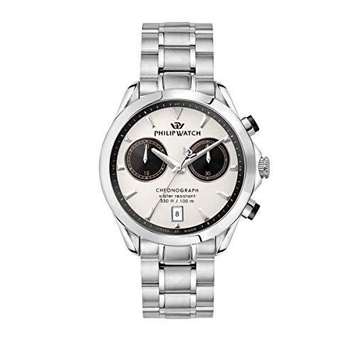 Philip Watch Reloj para Hombre, Colección Blaze, de Acero Inoxidable - R8273665006
