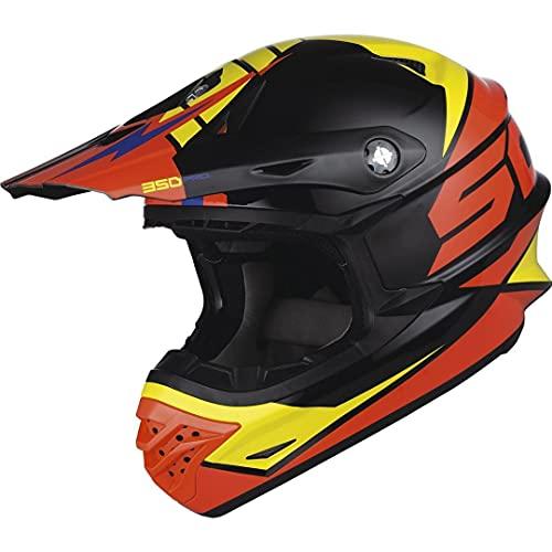 Scott 350 Pro Podium Casque de motocross Schwarz/Orange