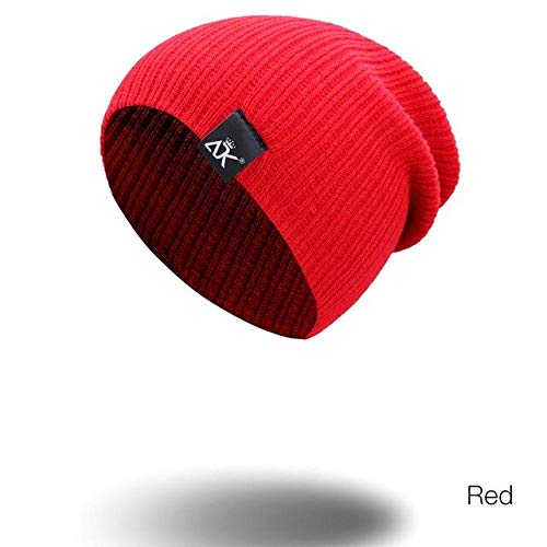 Men's and women's beanie hats autumn and winter warm hat simple knitted casual skull hat brim solid color cotton hat hat-B02
