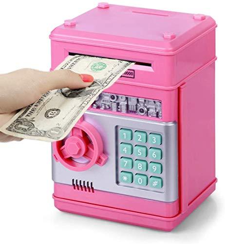 Thedttoy Spardose für Kinder, Geldautomaten, elektronisches Passwort, Mini-Geldautomat, Geldtresor, Münzgeld, für Kinder