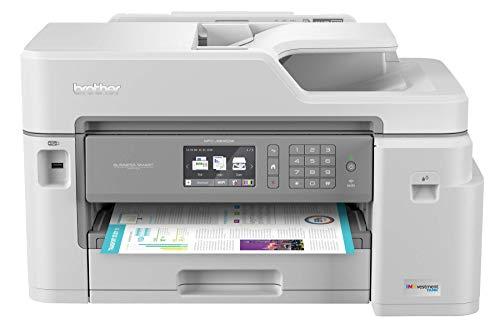 Brother Inkjet Printer MFCJ5845DW XL INKvestment Color Inkjet AllinOne Printer with Wireless Duplex Printing and Up to 2Years of Ink Inbox