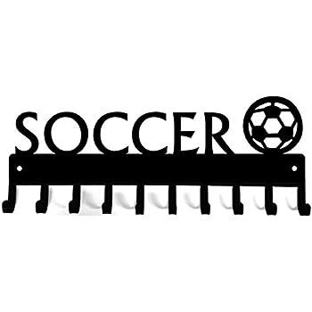 The Metal Peddler Soccer Goalie Male Medal Rack /& Ribbon Display