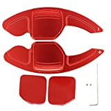 NewYall Set of 2 Red Steering Wheel Shifter Shift Paddle Blade Extension Trim