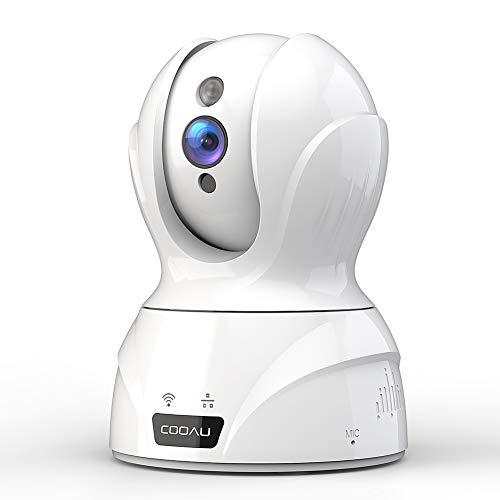 【2019最新型400万画素】COOAU ネットワークカメラ 4MP高画素 自動追跡 顔認識 音声検知 IP監視防犯ペット...