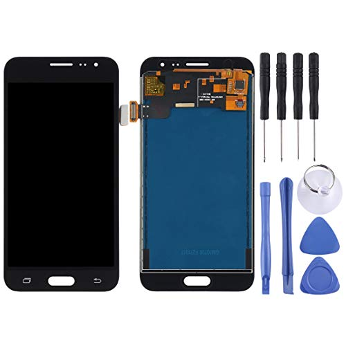 CellphoneParts BZN Pantalla LCD (TFT) + Panel táctil for Samsung Galaxy J3 (2016) / J320, J320FN, J320F, J320G, J320M, J320A, J320V, J320P (Negro) (Oro) (Blanco) (Color : Black)