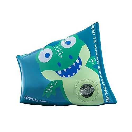Manguitos Speedo Infantiles Unisex con Estampado de cocodrilo, Cosmos/Esmeralda/Aqua Mint 🔥