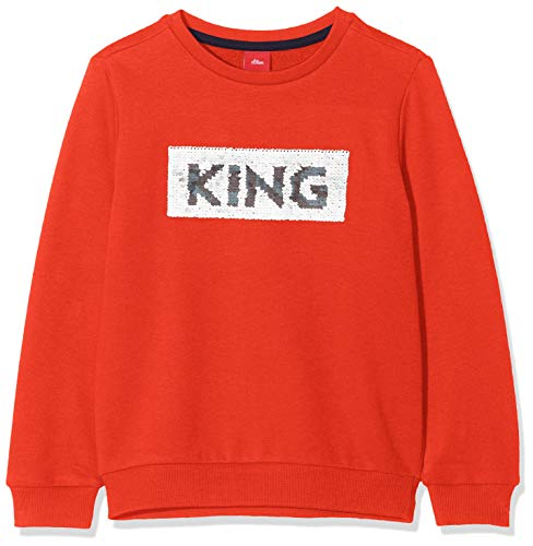 s.Oliver Jungen 64.909.41.8866 Sweatshirt, Rot (Red 2608), 116 (Herstellergröße: 116/122/REG)