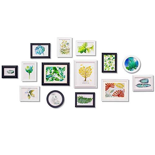 Rventric Marco de Fotos de la decoración de la Pared, 14 PCS Multi Pack Cuadro Marco Conjunto para la graduación/Nietos/Abuelo/bebé