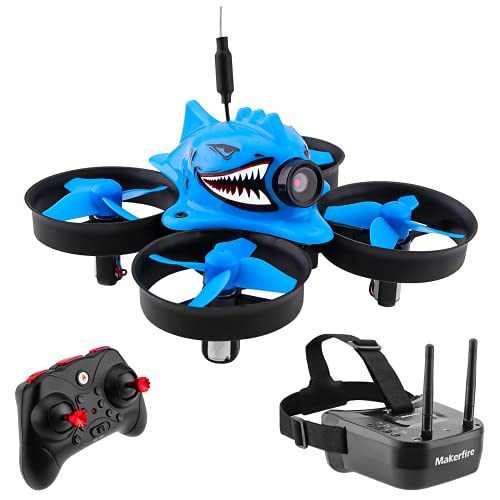 Makerfire Micro FPV Racing Drone with FPV Goggles 5.8G 40CH 1000TVL...