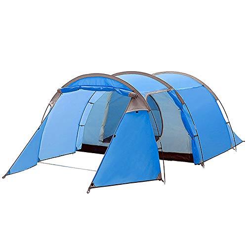Nelbons Tunnelzelt, 2-3 Mann Zelt, 2/3 Personen Campingzelt, leichtes Trekkingzelt mit Vorzelt, wasserdicht WS 2.000-3.000mm Familienzelt