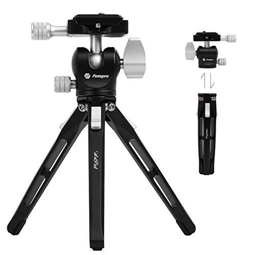 Fotopro Tischstativ Mini-Stativ für Kamera Reisestativ mit 360-Grad-Kugelkopf Tragbares Stativ für Smartphone DSLR-Kamera Canon Nikon