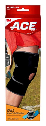 ACE Adjustable Knee Brace with Dual Side Stabilizers, Satisfaction Guarantee, One Size Fits Most