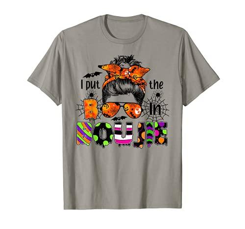 Moño desordenado Scrunchies Spooky I Put The Boo In Boujie Camiseta