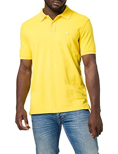 United Colors of Benetton (Z6ERJ Herren Maglia Polo M/M 3089J3179 Polohemd, Yellow 3n7, Large
