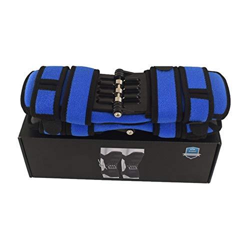 SASCD Conjunto de Apoyo Rodilleras Transpirable Antideslizante Power Lift Conjunta Rodilleras Potente Rebote Primavera Fuerza Rodilla Booster Leg Protector (Color : Blue)