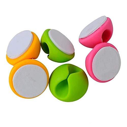 fablcrew serre-câbles pour tenir la bureau en ordre, 6 pièces à SET, Couleur Aléatoire 2.8cm Colore Casuale