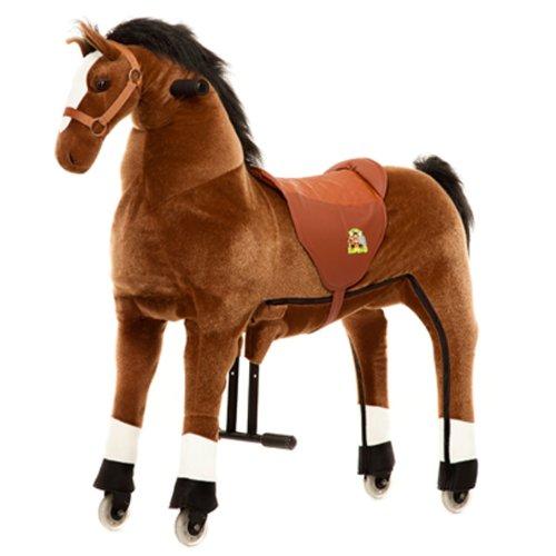 Animal Riding Reitpferd Amadeus X-Large, Reittier ab 8 Jahre, Sattelhöhe 80 cm, Pferd braun - ARP002L