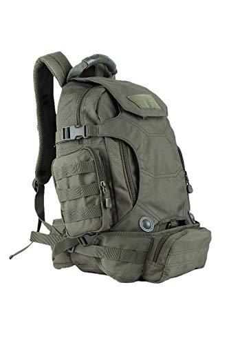 OLEADER Militär taktischer Rucksack 40L wasserdichter Rucksack Große Molle Assault-Rucksäcke mit Taillentasche für Outdoor-Trekking, Reisen, Wandern, Camping (Green)